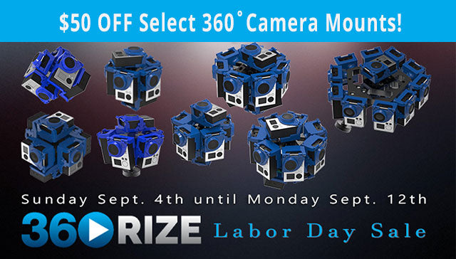 Get $50 Off 360Rize 360-degree Camera Mounts - Only through 9/12