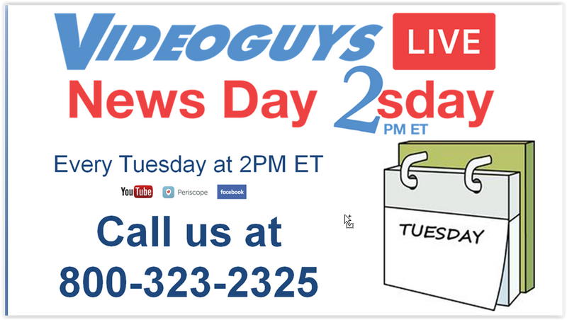 Videoguys Live News Day 2sday Page