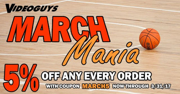 More Videoguys March Mania Specials from G-Technology, Avid, Atomos and more