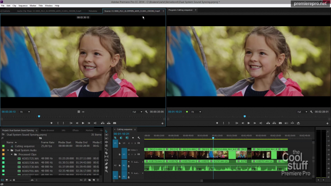 Using Premiere Pro to Sync Dual System Audio