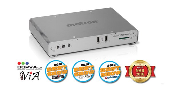 Matrox Monarch HDX Announced as Finalist for Annual Streaming Media Readers' Choice Awards