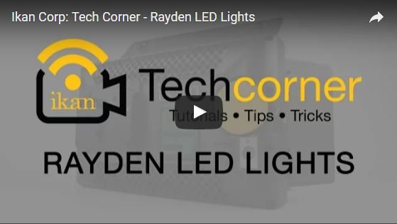 iKan's Tech Corner Video Featuring Rayden LED Lights