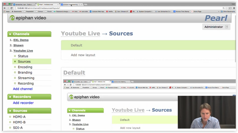 Tutorial: Epiphan Pearl Encoding for YouTube Live
