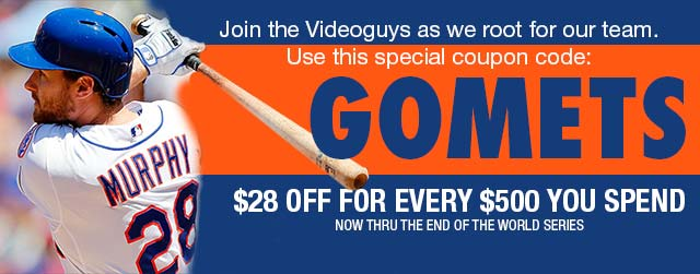 Special Videoguys Coupon! Let's Go Mets
