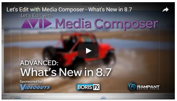 Edit with Media Composer 8.7 - New Exciting Updates