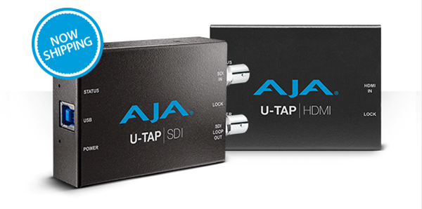 AJA U-TAP USB 3.0 Capture Devices Now Shipping