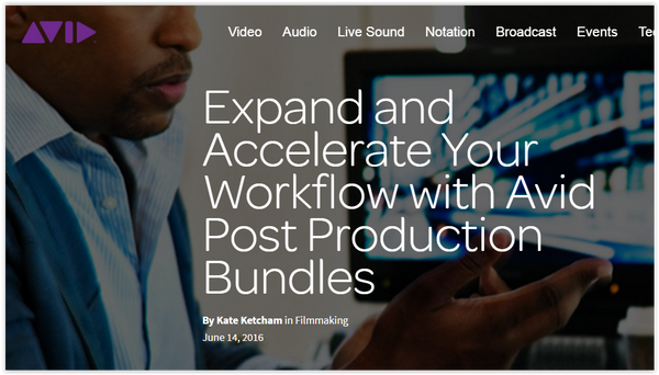Avid Nexis Pro Post Production Bundles Expand & Accelerate Your Workflow