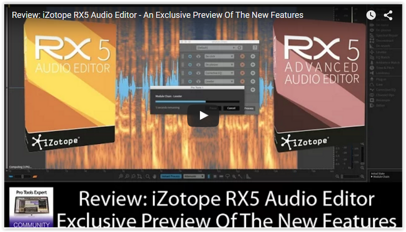 Check Out the New Features in iZotope RX5