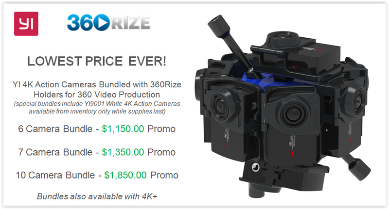 HUGE Savings on 360 Rize Camera Mounts and YI Camera Bundles