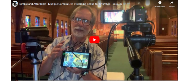 Yolobox Budget Live Steaming Setup for Small Churches