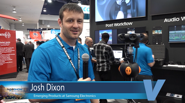 Samsung booth at NAB with Josh Dixon.