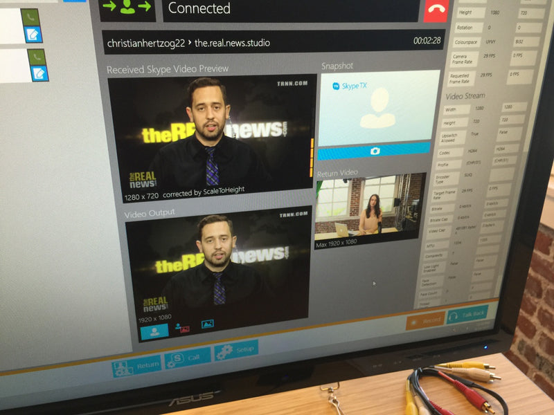 NewTek Talkshow & Skype takes The Real News Network to the next level