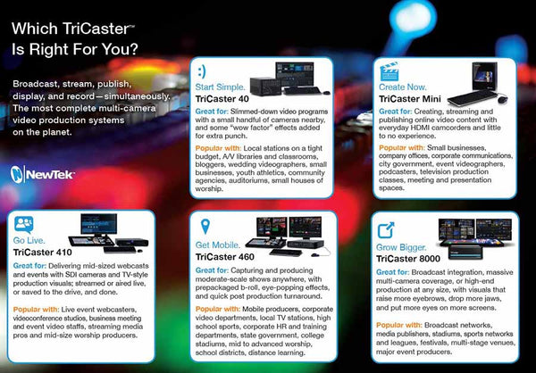 Find Out Which TriCaster Is Right For You