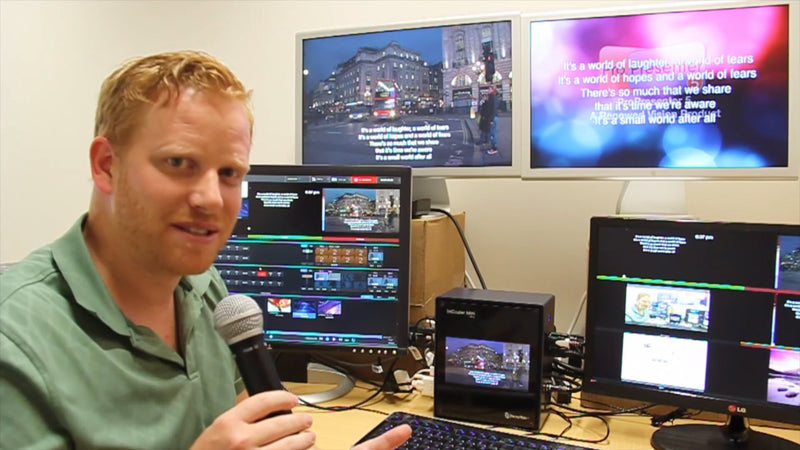 NewTek TriCaster Mini Dual Presentation Output Demo