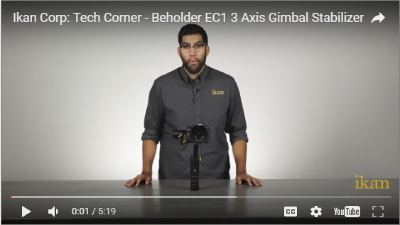 Ikan's EC1 3 Axis Gimbal Stabilizer Features