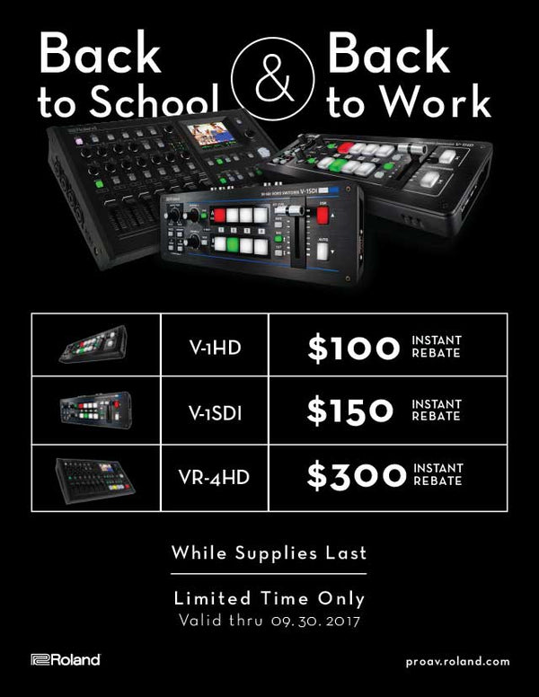 Instant Rebate on Roland Mixers!