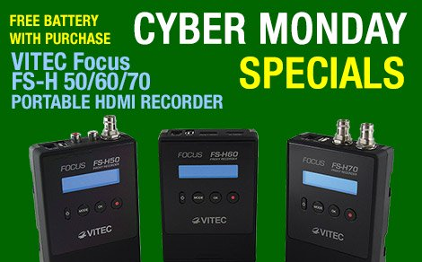 Cyber Monday Special - Free Battery with Focus FS-H50/60/70 Purchase