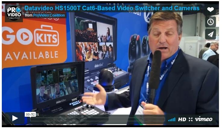 Datavideo's New Affordable Multi-Camera Switcher Package HS-1500T