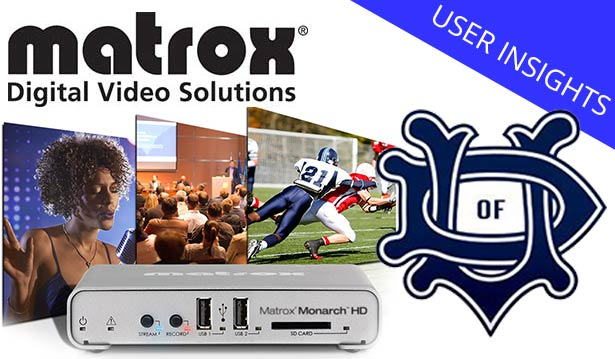 University of Dallas Webcasts Sports with Matrox Monarch HD
