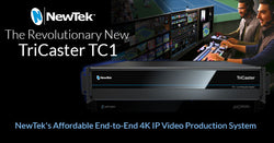 Introducing the Revolutionary New TriCaster TC1 4K IP Video Production System