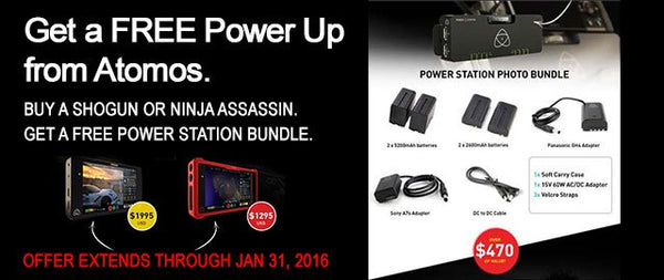 Atomos Free Offers with Purchase of Shogun, Ninja Assassin, and Ninja Blade Field Monitor and Recorders