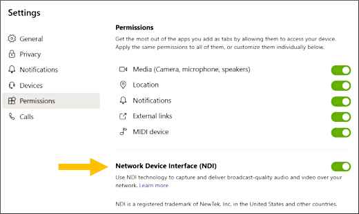 Microsoft Guide to Using NDI with Microsoft Teams