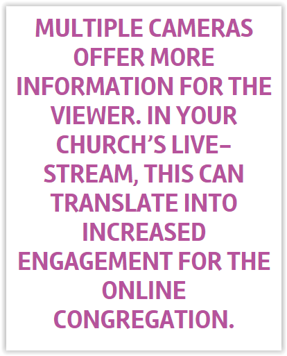 Using Multiple Cameras to Increase Engagement for Worship Streaming