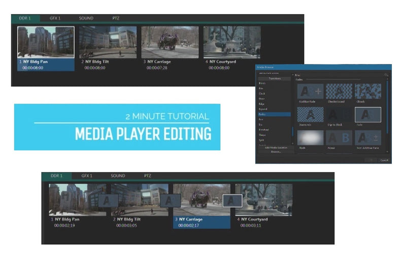 TriCaster 2-Minute Tutorial - Advanced Edition: Live Video Editing Inside Media Players