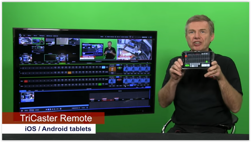 Cool iPad/Adroid App lets you Control your NewTek TriCaster with your Tablet