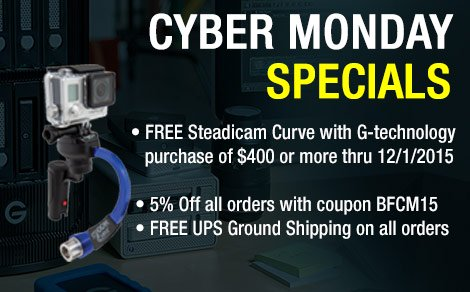 G-Technology Cyber Monday Special with FREE Gift