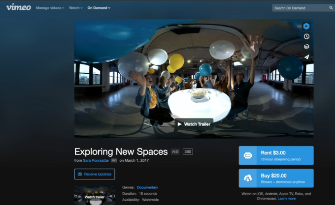 Vimeo rolls out support for 360 degree VR video