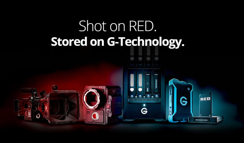 Shot on RED. Stored on G-Technology