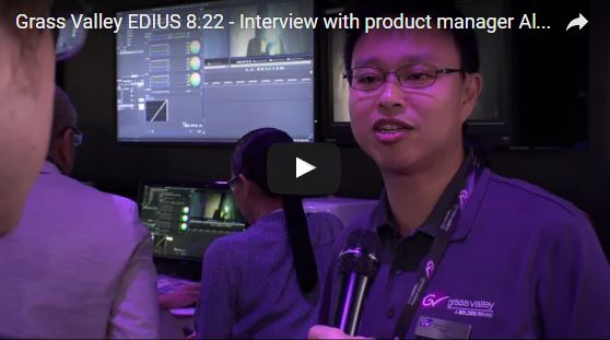 Grass Valley EDIUS product manager Alex Kataoka at IBC 2016