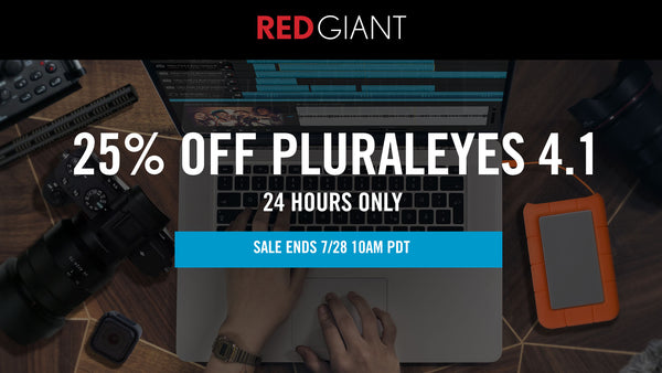 24hr Flash Sale! Red Giant PluralEyes 4.1