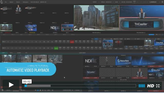 TriCaster 2-Minute Tutorial: Using the Autoplay Functions