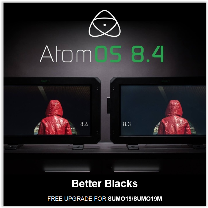 AtomOS 8.4 Upgrade Brings Better Blacks and More New Features to Atomos SUMO 19 and SUMO 19m