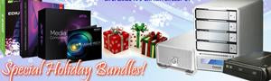 Special Holiday Bundles of Software and Storage at Videoguys.com!