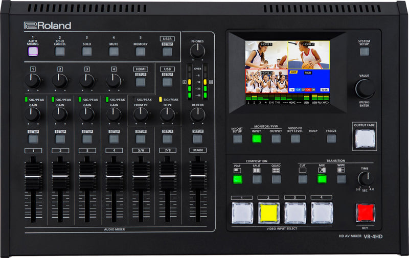 Roland Updates VR-4HD All-in-One AV Switcher Software and Firmware
