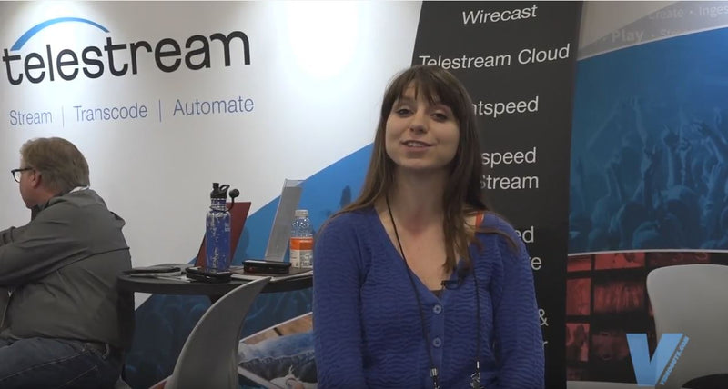 Telestream demonstation of Wirecast gear at NAB New York