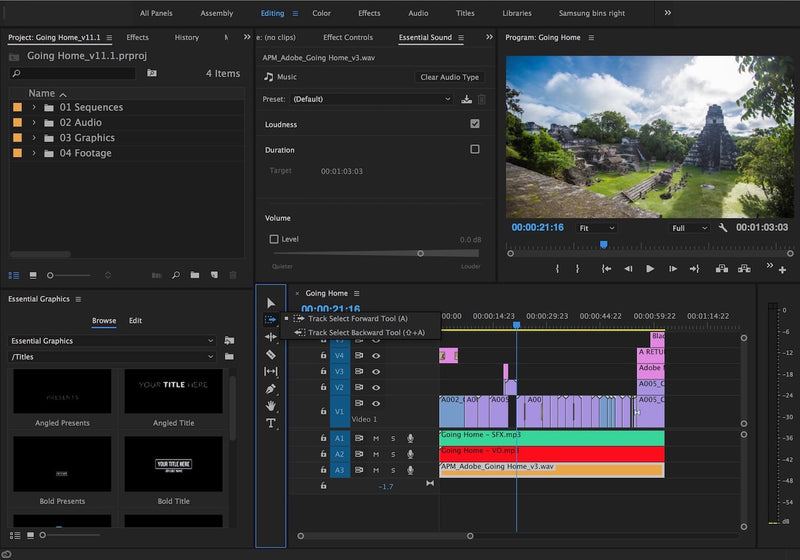 A look at Adobe Premiere Pro CC April 2017 Update