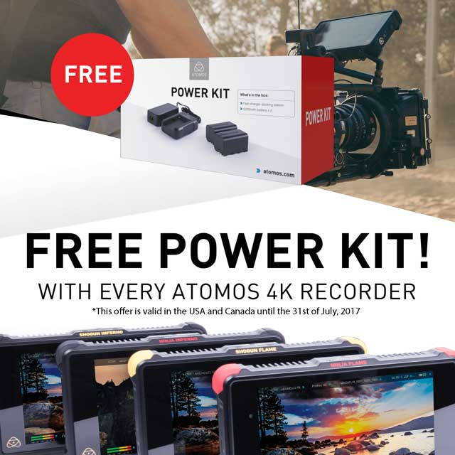 FREE Power Kit with Atomos Inferno & Flame Purchase!