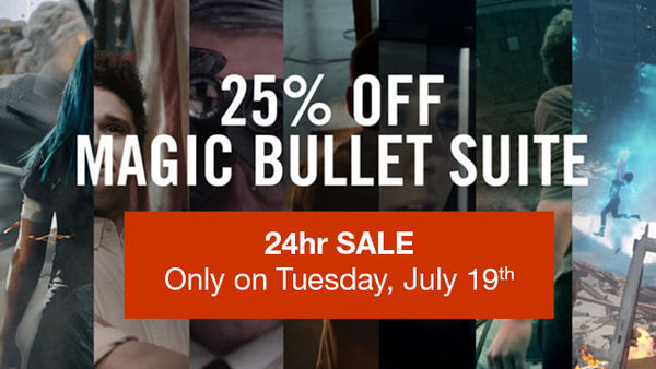 24hr Sale Today - 25% Off Red Giant Magic Bullet Suite and more