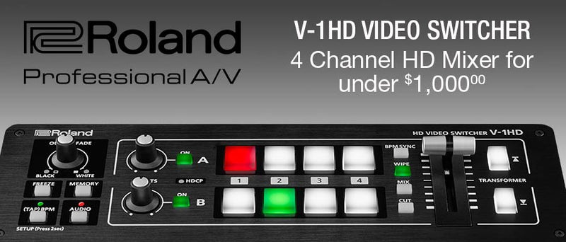 Roland's V-1HD HDMI Mixer and V-1200HD Multi-format Switcher are now in stock