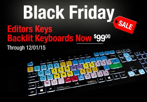 Editors Keys Black Friday Special - Any Backlit Keyboard Now just $99