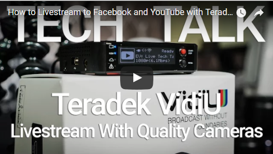Teradek VidiU: How to stream live to Facebook and YouTube