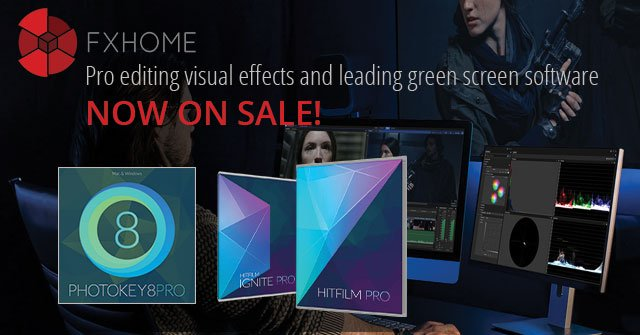 FXHome Flash Sale on VFX and Green Screen Software