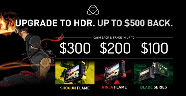 Upgrade to HDR with Atomos Cash Rebate Specials