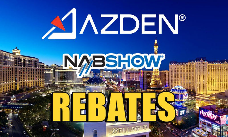 New at NAB: Azden NAB 2015 Rebate Program