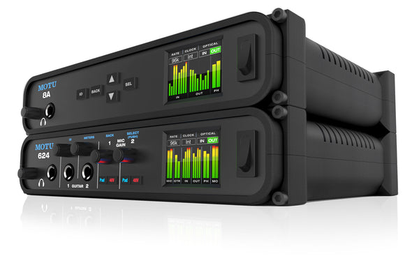 MOTU Now Shipping 624 & 8A Mobile Audio Interfaces with Thunderbolt, USB3 and AVB/TSN