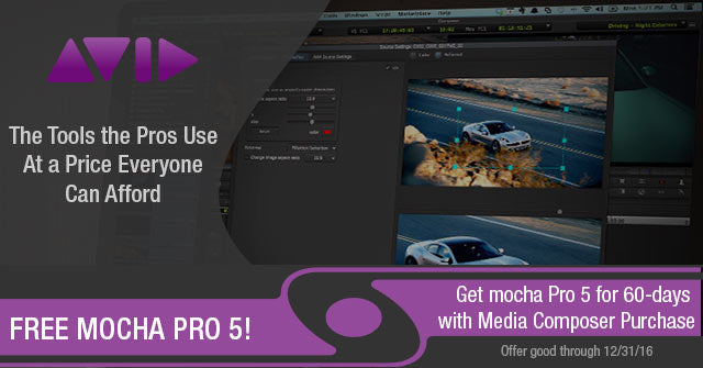 Buy Avid Media Composer and Get mocha Pro 5 FREE for 60 Days